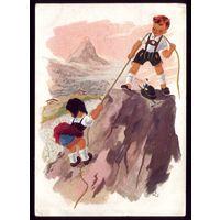 Германия Дети в горах