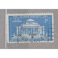 США Архитектура Колумбийский университет 1954г гашение красный крест  лот 2