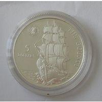 "Ниуэ 5 Долларов 1992 ""Баунти"" Серебро (14)"
