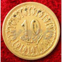 7185:  10 миллимов 1960 Тунис