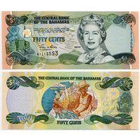 Багамы. 50 центов (образца 2001 года, P68, UNC)