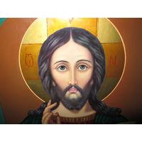 Икона(картина) Спаситель авт.Павел Сладков Федоскино 2004 г.