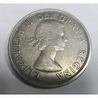 Канада 1 доллар 1964 г. 100 лет Шарлоттауну и Квебеку. Серебро