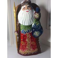 Дед Мороз Фигурка из дерева Новая! Ручная работа
