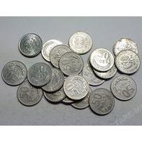 Польша, 50 грошей 1949,1972,1973,1975,1976,1977,1978,1982,1983,1984,1985,1986,1987 год.