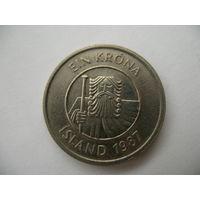 1 крона 1987 Исландия