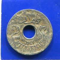 Египет 2 миллима 1917