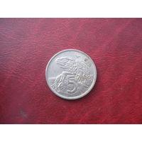 5 центов 1970 год Новая Зеландия