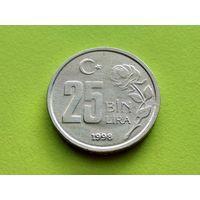 Турция. 25000 лир (25 bin lira) 1998.
