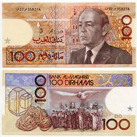 Марокко. 100 дирхамов (образца 1987 года, P65d, UNC)