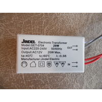 Трансформатор Jindel 20W AC12V