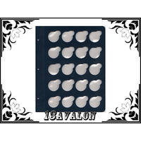Лист Синий, для монет в капсулах D= 32мм, Коллекционер КоллекционерЪ в альбом для капсул