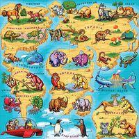 Магниты Растишка. Карта мира. Полная серия магнитов из 36 элементов
