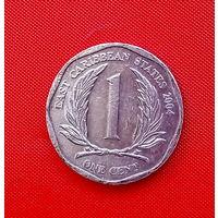 36-12 Восточные Карибы, 1 цент 2004 г.