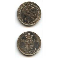 Дания 1 крона 1988 г. KM#862.3