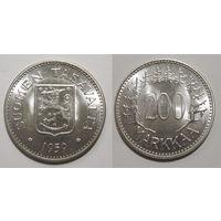 Финляндия - 200 markkaa 1959 (Редкий год) UNC