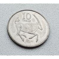 Ботсвана 10 тхебе, 1989 1-8-40