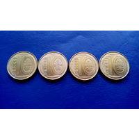 Брак 10 копеек 2009 год Беларусь (Вздутие монет,состояние на фото)Цена за одну