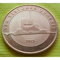"""Коллекционная монета-жетон """"NOTRE DAME DE PARIS""""  в позолоте.(Редкая)"""