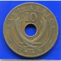 Британская Восточная Африка 10 центов 1949