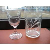 Рюмка и стакан 70 годов