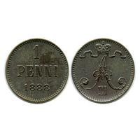 Финляндия. 1 пенни 1888 г.
