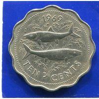 Багамские острова , Багамы 10 центов 1969