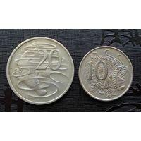 Австралия. 2 монеты 1967-1968 г.