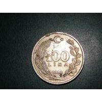 Турция 100  лир 1988