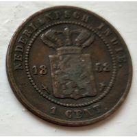 Голландская Ост-Индия 1 цент, 1858 1-8-14