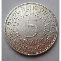 ФРГ. 5 марок 1966 J, Серебро