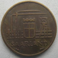 Саар (Саарленд) 10 франков 1954 г.