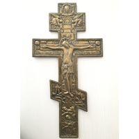 Крест. Латунный крест. Размер! Царская Россия. 19 век. Большой.