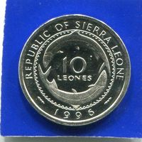 Сьерра Леоне 10 леоне 1996 UNC