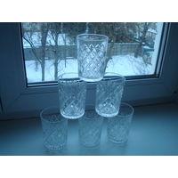 6 хрустальных стаканов.