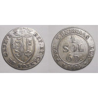 Швейцария (кантон Женева) 0,5 Sol 1825