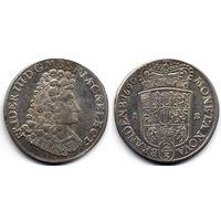2/3 талера 1690 IE, Германия, Пруссия, Фридрих III, Магдебург. Более редкий монетный двор