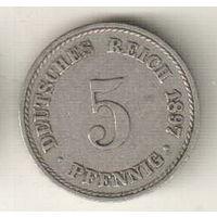 Германия 5 пфенниг 1897 А