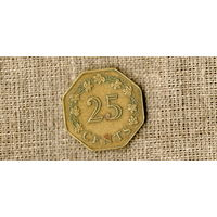 Мальта 25 центов 1975 /корабль//(ON)