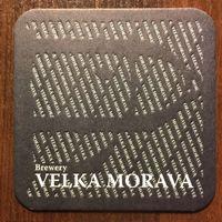 Подставка под пиво частной пивоварни Velka Morava /Россия/ No 3