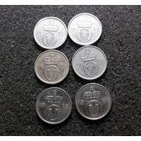 Норвегия, 10 эре 1975, 1986, 1987, 1988, 1990, 1991