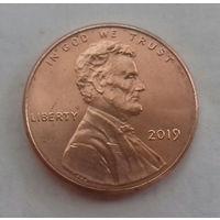 1 цент США 2019, 2019 D, AU