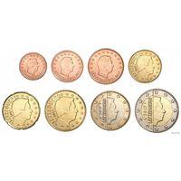 Набор монет Люксембург 2017 UNC из ролла