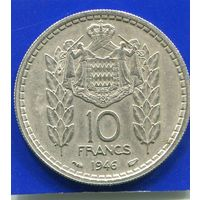 Монако 10 франков 1946
