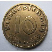 Германия. 10 рейхспфеннигов 1938 A. 356