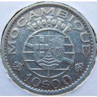13. Мозамбик Португальский 10 эскудо 1955 год, серебро