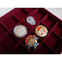 Планшет универсальный для предметов коллекционирования (монеты, награды, значки) на 16 ячеек