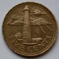 Барбадос, 5 центов 2002 г.