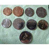 Уганда полный набор 9 монет 1, 2, 5, 10, 50, 100, 200, 500, 1000 шиллингов 1987-2012