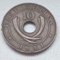 """Британская Восточная Африка 10 центов, 1941 """"I""""- Бомбей  6-6-13"""